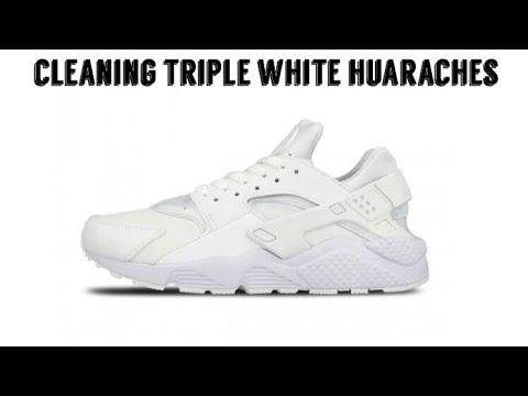 Cleaning triple white huarache