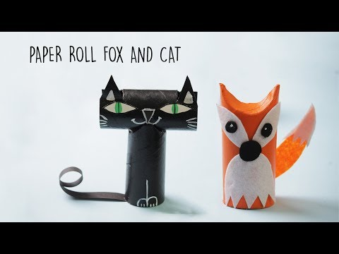 Easy Fox and Cat with Toilet Paper Rolls | Best out of Waste