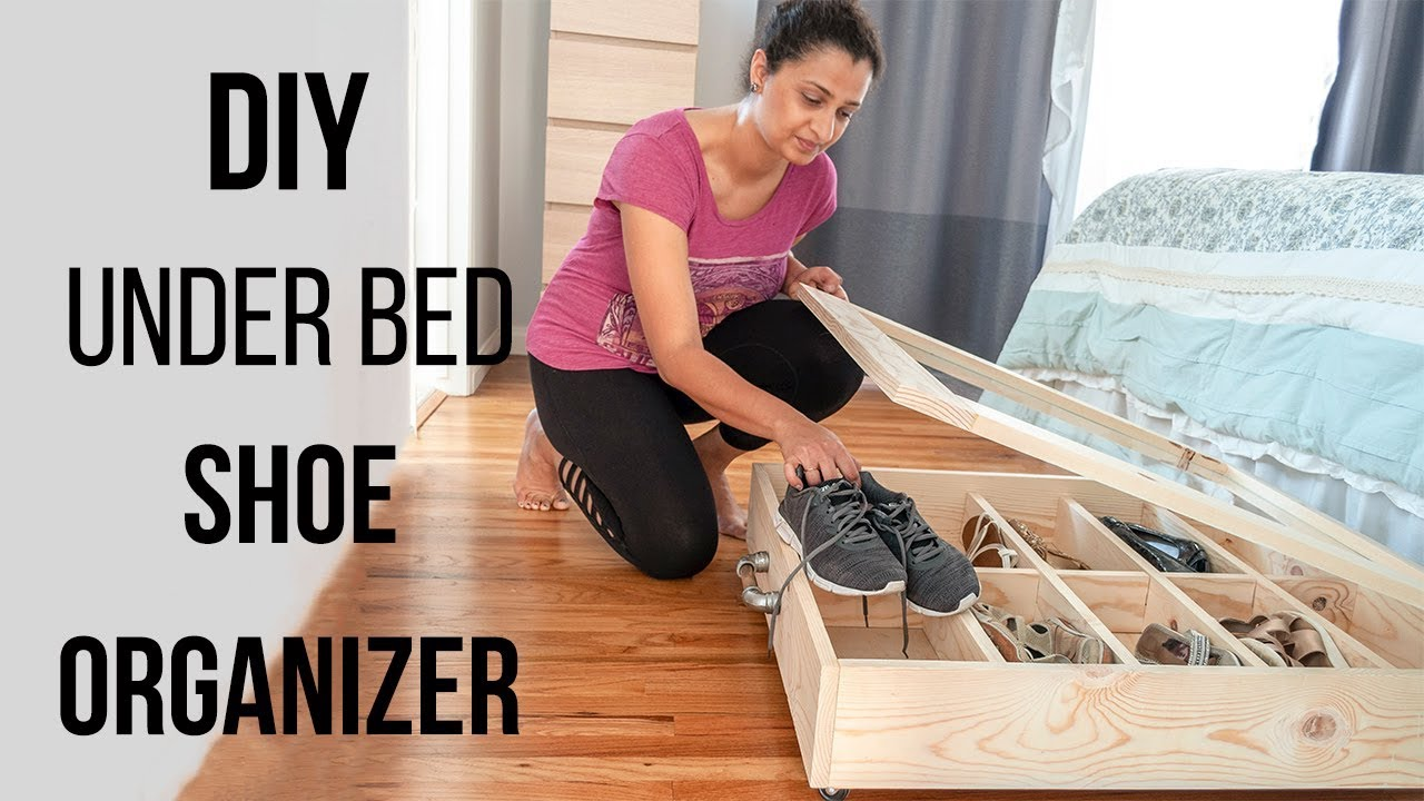 Diy Under Bed Shoe Organizer Easy