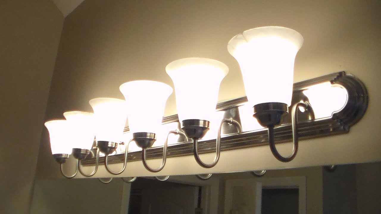 How To Replace Bathroom Lighting YouTube - Long bathroom light fixtures