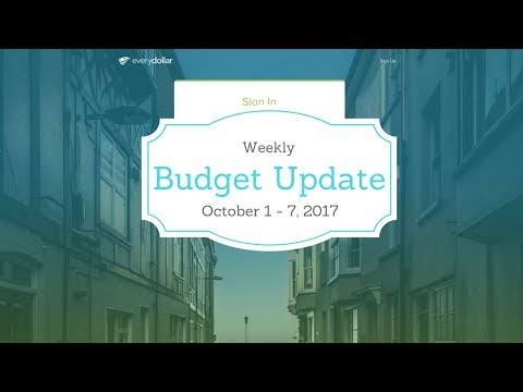 October 2017 Budget - Week 1 Update (- $56,953.57)