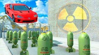 EXPERIMENT - Cars vs Nuclear Bombs - BeamNG Drive  | CrashTherapy