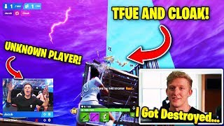 TFUE & CLOAK *SHOCKED* AFTER GETTING DESTROYED BY UNKNOWN PLAYER | Fortnite