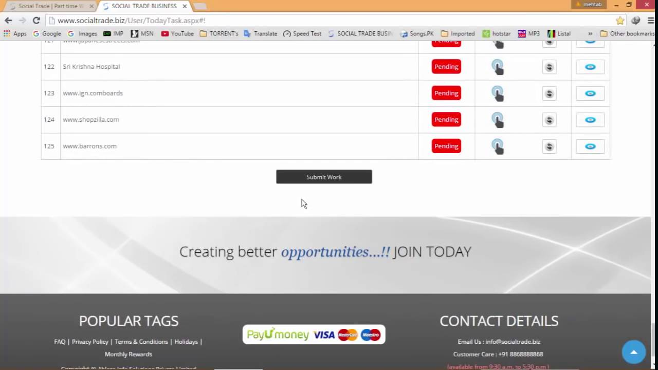 Social Trade Part time Work Online Work at home 10K to 25K daily ...