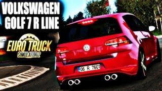 VİTES ANİMASYONLU HARİKA VW GOLF 7 R LİNE MODU! - ETS 2 Volkswagen Golf 7 R Line Araba Modu 1.33