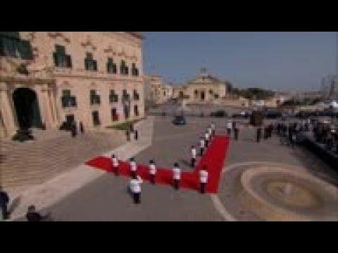 Macron Arrives In Malta For South EU Summit