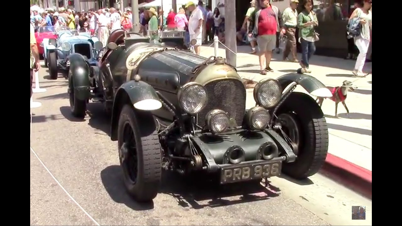 Lovely 1920u0027s Bentley Roadster Race Car At The 2015 Rodeo Drive Concours  Du0027Elegance   YouTube