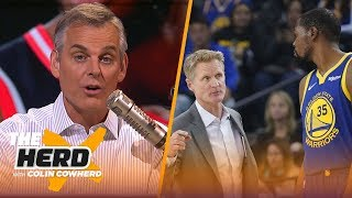 Colin Cowherd on KD and Kerr's reportedly rocky relationship, Kawhi's uncertainty | NBA | THE HERD