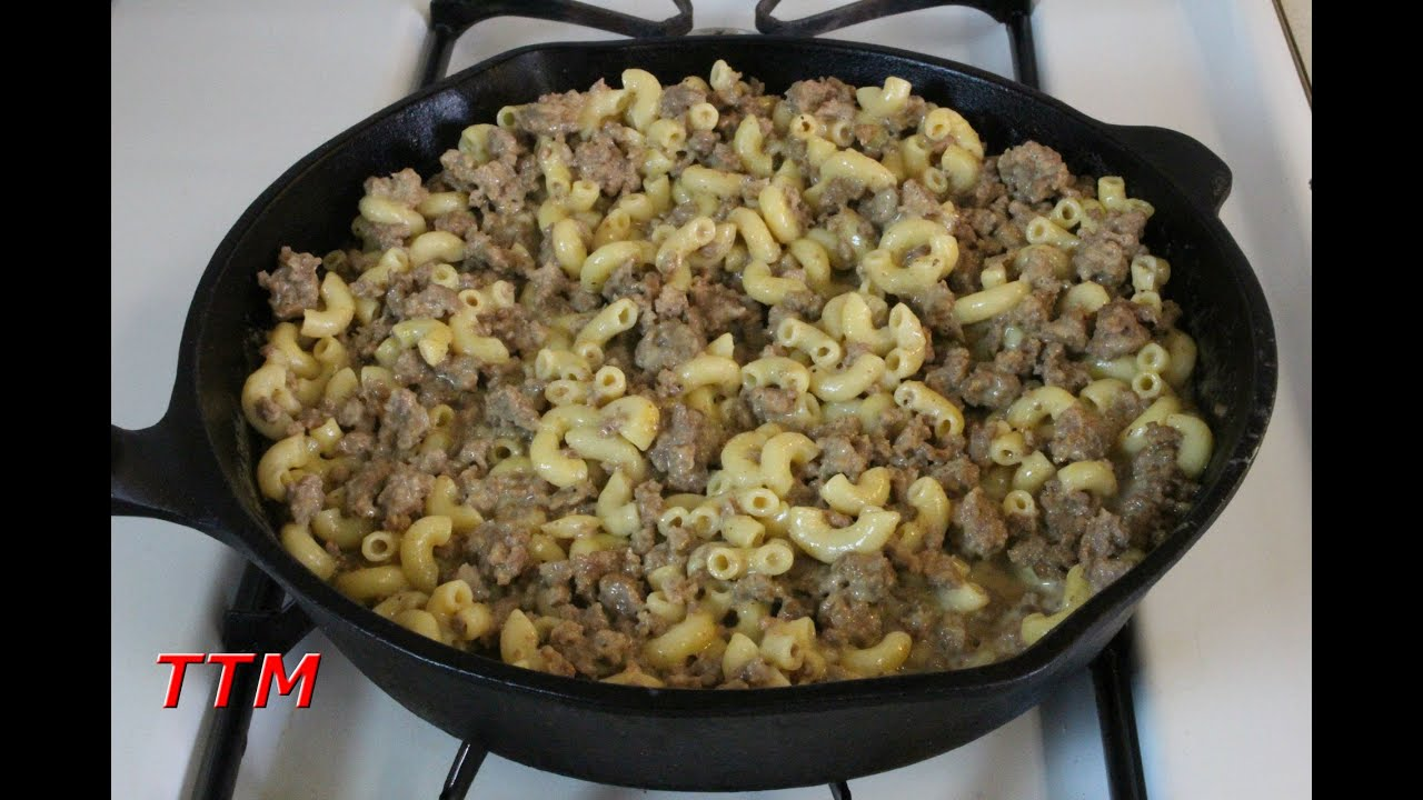 how to make simple stovetop ground beef macaroni and