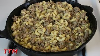How To Make Simple Stovetop Ground Beef Macaroni And Cheese