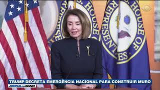 Trump declara emergência nacional para construir muro