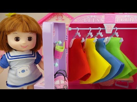 Baby doll dress room and house baby Doli play