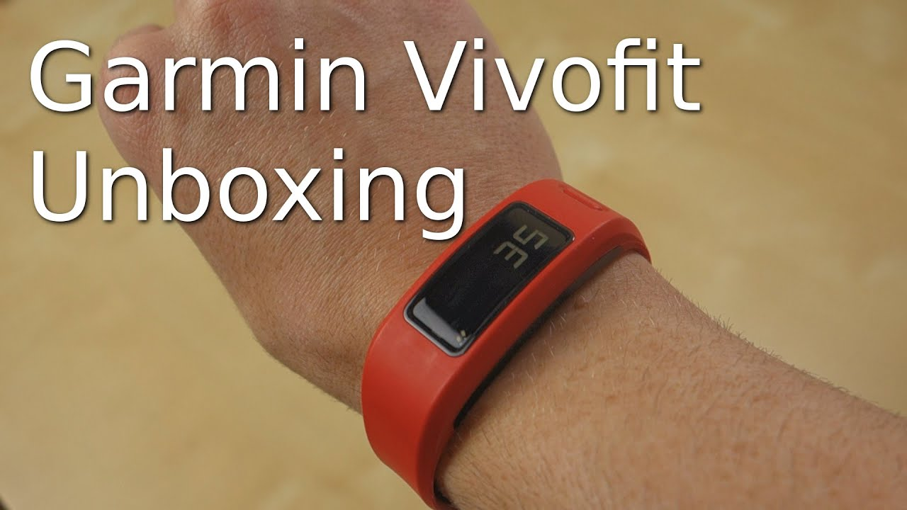 Garmin Vivofit Fitness Band Unboxing Setup And Hands On Youtube
