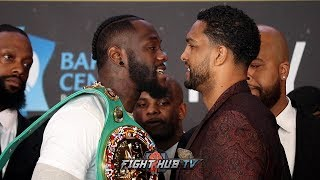 DEONTAY WILDER & DOMINIC BREAZEALE HAVE TENSE BACK AND FORTH CONFRONTATION DURING FACE OFF