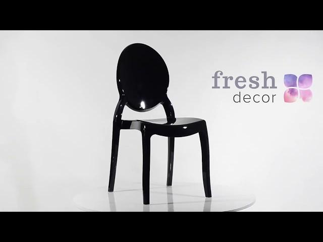 черный пластиковый стул Хост Каспер без подлокотников