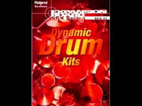 Roland SRX 01 Dynamic Drums Exp Board  XP-E 002 StdRock1 Kit