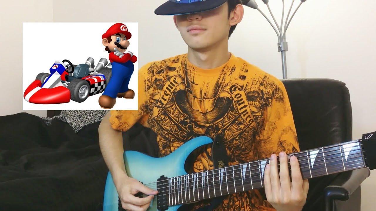 mario kart mario circuit on guitar 8 string metal djent youtube