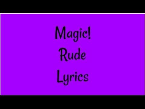 Magic - Rude Lyrics - YouTube