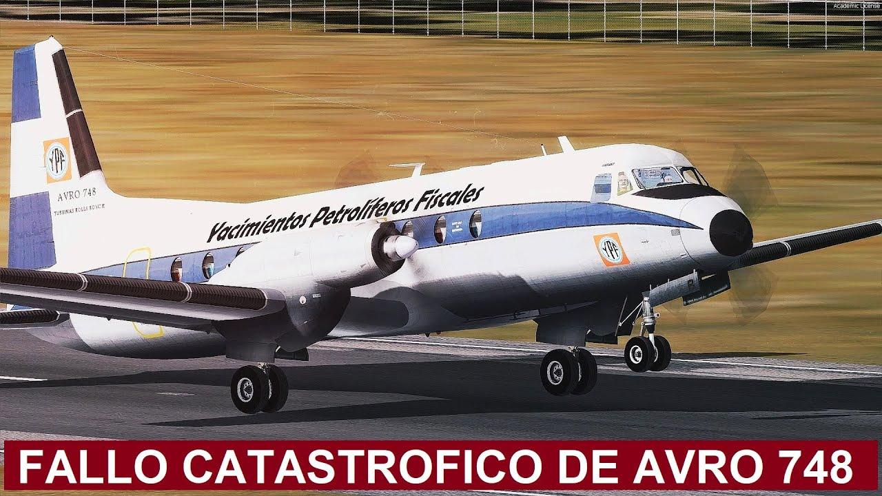 Avión sufre fallo insólito en Argentina justo antes de aterrizar - YPF 748