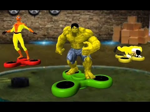 Superheroes Fidget Spinner Battle #2 (by Confun GameStudio) -Monster, Spider Spinner Fight Android