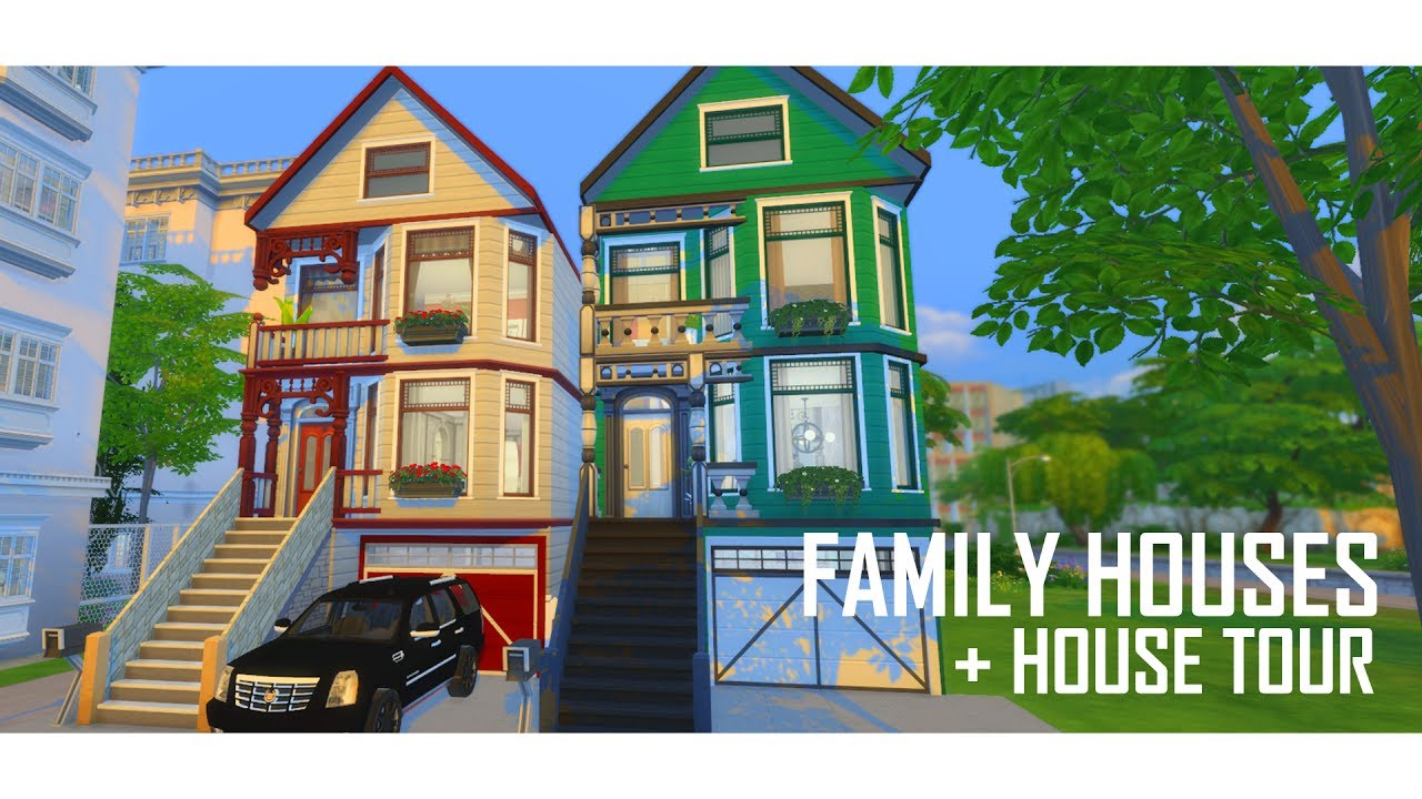 The sims 4 family houses build house tour youtube for The family house