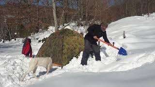 Karlı Dağlara Tırmanış .Kardan adam.Karla Mücadele.62.Bölüm.Solo Bushcraft Camp