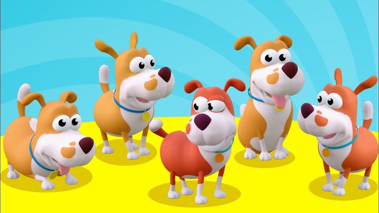 BEŞ KÜÇÜK KÖPEK - Hayvanlı Şarkılar - Mini Anima Çocuk Şarkıları