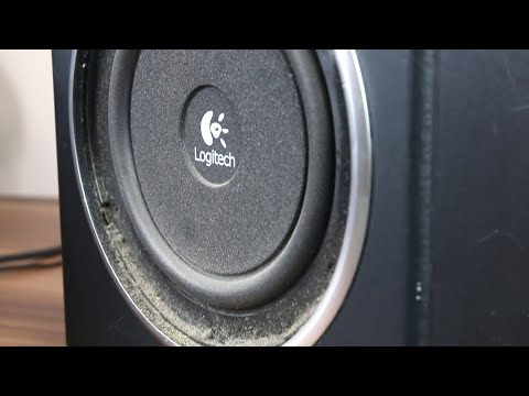 e35735bb025 How to remove Logitech Z523 a grill + subwoofer excursion bass test ...