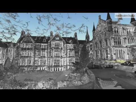 3D laser scan of Professors' Square, Glasgow University