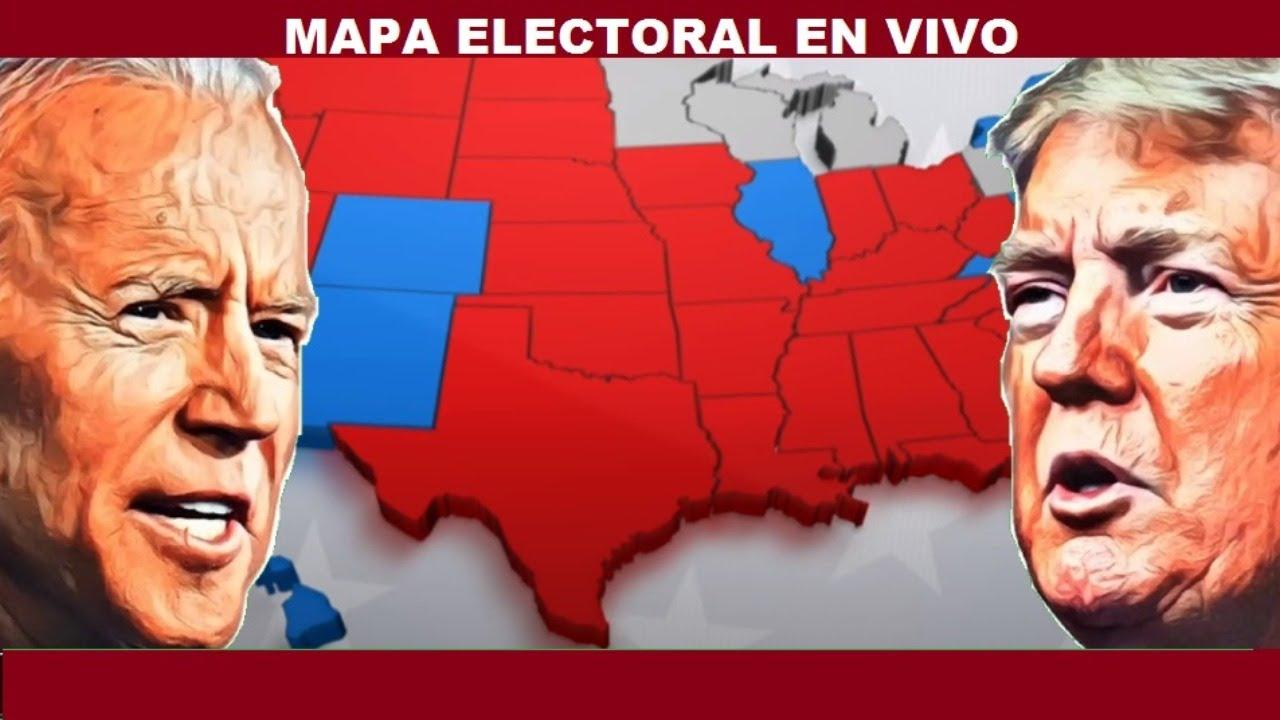 MAPA ELECTORAL EN VIVO TRUMP VS BIDEN ELECCIONES 2020 RESULTADOS