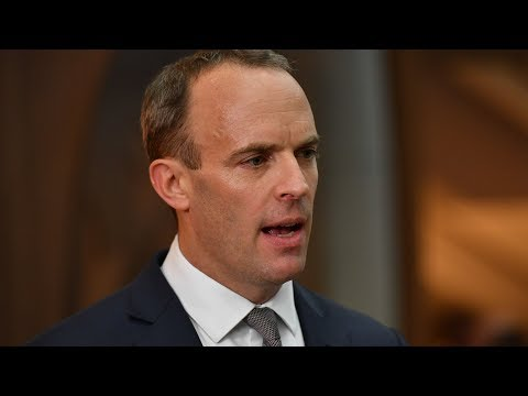 Brexit Secretary Dominic Raab is giving a statement on the state of negotiations with the EU