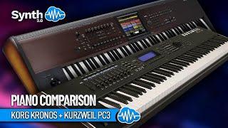 Korg Kronos + Kurzweil Pc3 series - Piano Vs Piano performed by S4K ( Space4Keys Keyboard Solo )