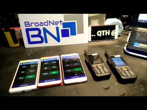 Broadnet PTT with Inrico T298s Android Mobile Radio