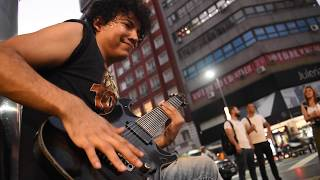 Still Got The Blues - Amazing Street Electric Guitar Performance - Cover by Damian Salazar