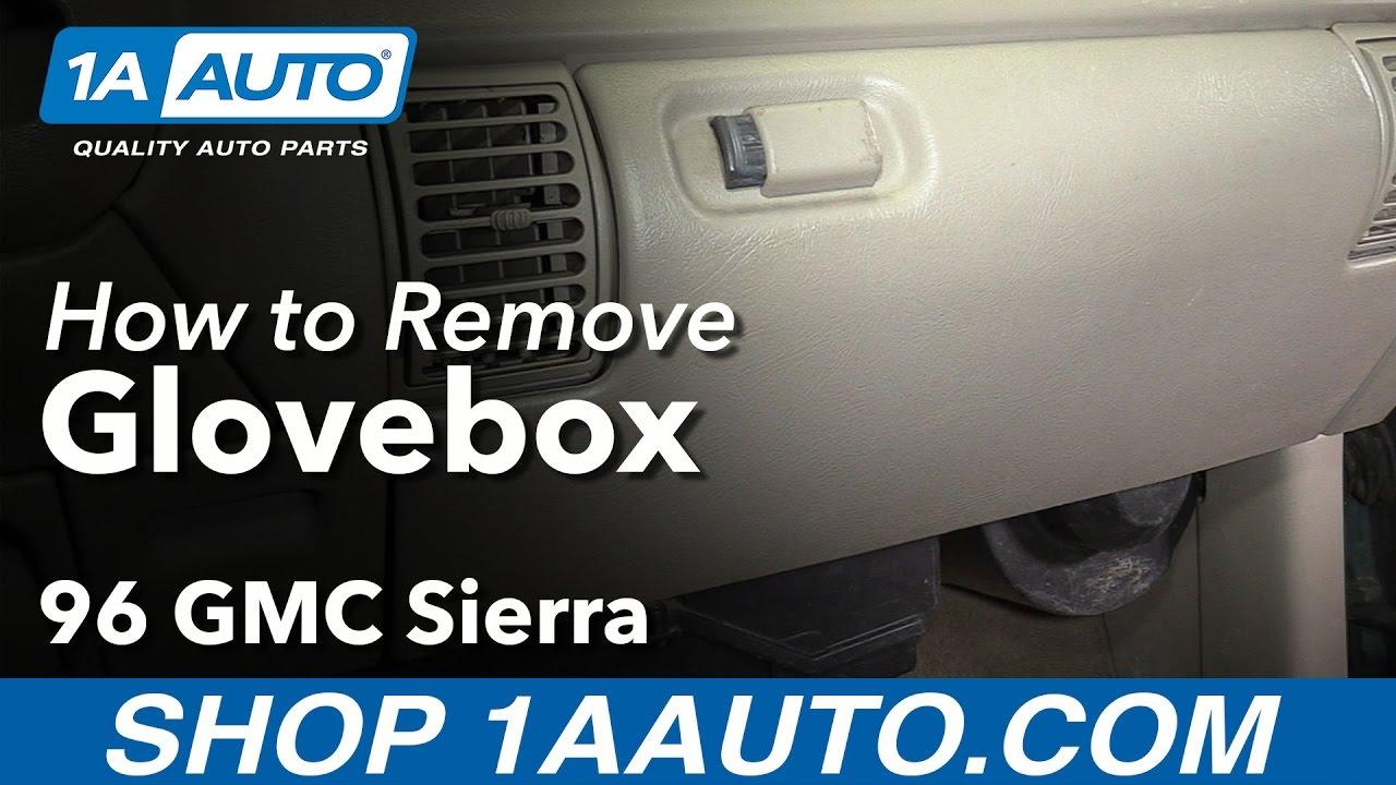 hight resolution of how to remove glovebox 88 98 gmc sierra k1500