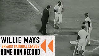 Willie Mays Breaks NL Home Run Record