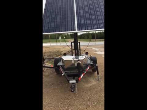 Canadian made construction LED solar trailer EG mobile 1 Made by Evolve Green
