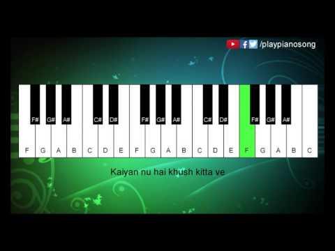 Chitta Ve (Udta Punjab) - Easy Piano Tutorial - Play Piano Song