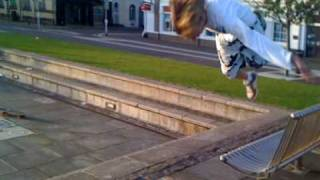 Andy front flip over cobbles thumbnail