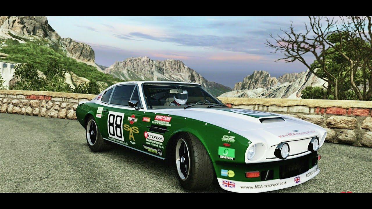 Aston Martin V8 Vantage '77 Old Rally Testing - YouTube