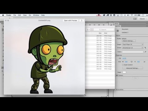 How To Import An Image Sequence, Change All Frames, Then Export It In Adobe Animate Or Adobe Flash