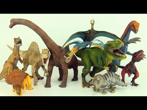 Learn counting and dinosaur names with Schleich dinosaurs - Count to ten in english