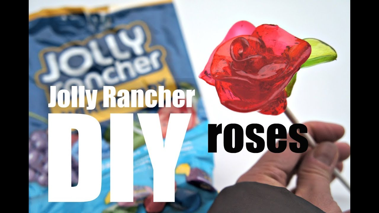 DIY Jolly Rancher Candy Roses