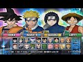 Battle Stadium D.O.N (Dragon Ball, One Piece, Naruto) - All Characters [PS2]