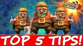 HOW TO MAX YOUR BASE FAST!!!   Clash Of Clans Top 5 Tips!