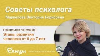 Этапы развития человека от 0 до 7 лет. Маркелова Виктория Борисовна