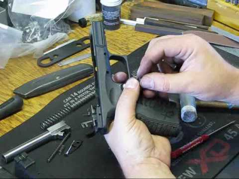 springfield xdm and xd frame detail assembly instructions by springer  precision part 1 of 3 - youtube