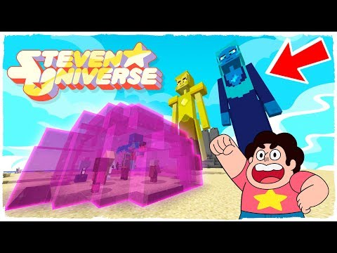 MINECRAFT - STEVEN UNIVERSE AND THE CRYSTAL GEMS VS YELLOW DIAMOND AND BLUE DIAMOND