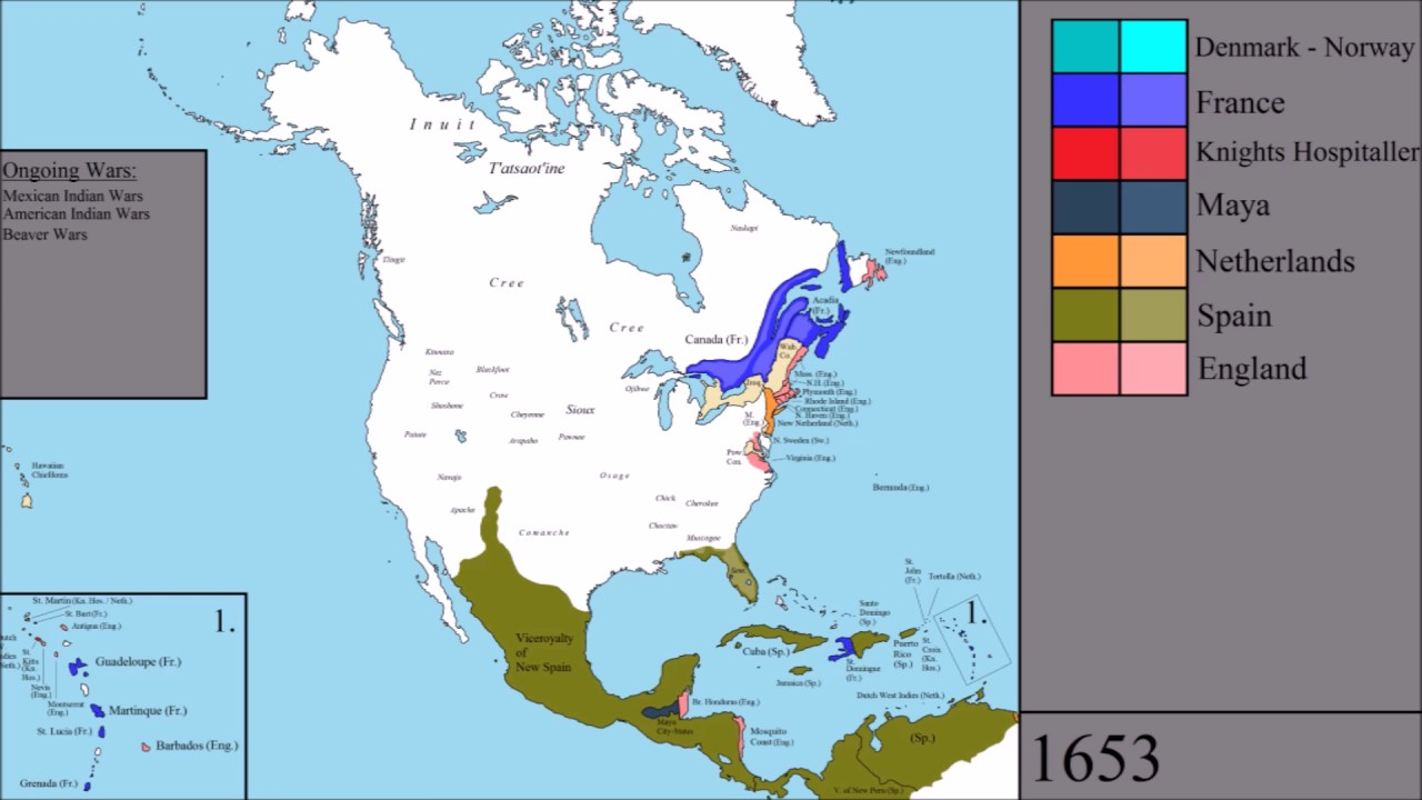 The History of North America: Every Year - YouTube