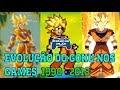 EVOLUÇÃO GAMES DRAGON BALL - GOKU - 1990/2018